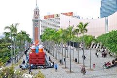 Hongkong Arts Centre and Bell tower Royalty Free Stock Image