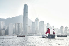 Hongkong and Barque Royalty Free Stock Photography