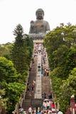 Hongkong big buddha. Hongkong Polin big buddha at Nhong Ping Stock Images