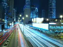 Hongkong bij Nacht Royalty-vrije Stock Foto
