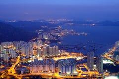 Hongkong bij Nacht Royalty-vrije Stock Fotografie