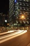 Hongkong bij Nacht Stock Afbeeldingen