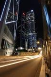 Hongkong bij Nacht Royalty-vrije Stock Afbeeldingen