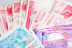 Hongkong Bills Royalty Free Stock Images