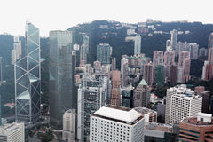 Hongkong bird view,Chian Royalty Free Stock Photo