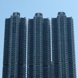 Hongkong building. Triple buildings in hongkong Royalty Free Stock Image