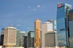 Hongkong business and bank buildings Stock Photo