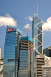 Hongkong center business buildings Royalty Free Stock Photography