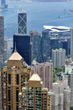 Hongkong center city beside Victoria harbor Stock Images