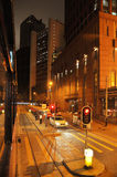 Hongkong central night scene Royalty Free Stock Photo