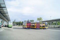 Hongkong, China: bus station Stock Photography