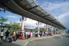 Hongkong, China: bus station Royalty Free Stock Images