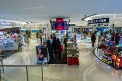 Hongkong china: cosmetics counters Royalty Free Stock Image