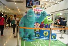 Hongkong, China: Gorilla sculpture landscape Royalty Free Stock Photos
