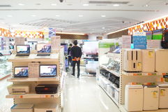 Hongkong, China: home appliance shopping mall Royalty Free Stock Image