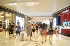 Hongkong, China: large-scale comprehensive shopping mall V City Royalty Free Stock Photography