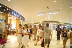 Hongkong, China: large-scale comprehensive shopping mall V City Royalty Free Stock Images