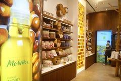Hongkong, China: large shopping plaza V City Royalty Free Stock Photography