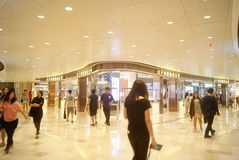 Hongkong, China: large shopping plaza V City Stock Photography