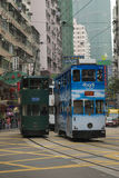 HONGKONG /CHINA 9TH MARS 2007 - traditionella Hong Kong Trolly Bu Royaltyfria Bilder
