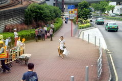 Hongkong, China: Tuen Mun bus station Royalty Free Stock Photo