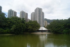 Hongkong, China: Tuen Mun Park Lake Stock Afbeeldingen