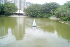 Hongkong, China: Tuen Mun Park Lake Stock Photo
