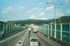 Hongkong, China: urban road transportation Stock Photo