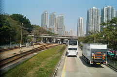 Hongkong, China: Urban Transportation Royalty Free Stock Photo