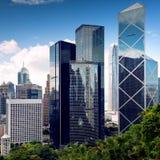 HongKong City center skyscrapers Stock Images