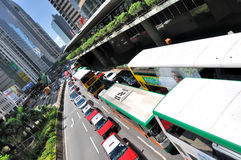 Hongkong city center traffic Stock Photos