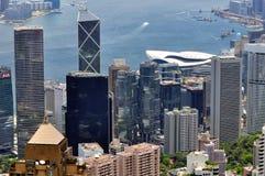 Hongkong city and harbor landscape Royalty Free Stock Photos