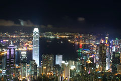 HongKong City at night Stock Photos
