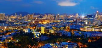 Hongkong city night Royalty Free Stock Image