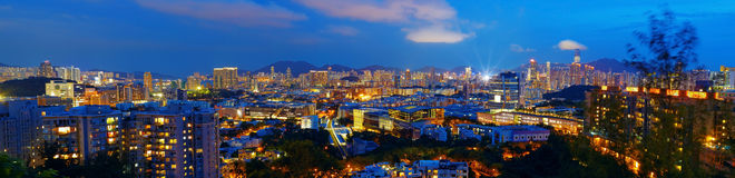 Hongkong city night Stock Images