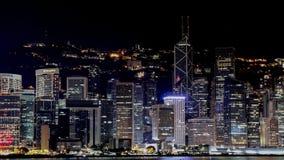 Hongkong city skyline in the night royalty free stock image