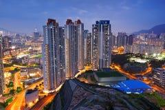 Hongkong city sunset Stock Photo