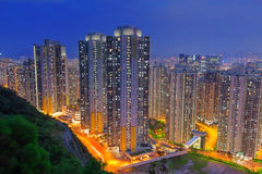 Hongkong city sunset Royalty Free Stock Image