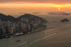Hongkong. City view from top stock images