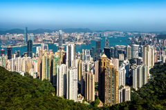 Hongkong. City view from top royalty free stock image