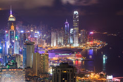 HongKong Cityscape Royalty Free Stock Photo