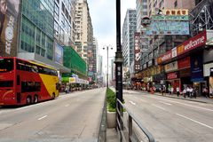 Hongkong commercial center street Royalty Free Stock Photo