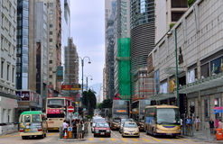 Hongkong commercial center traffic Stock Photos