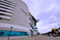 Hongkong convention and exhibition center buildings Stock Photos