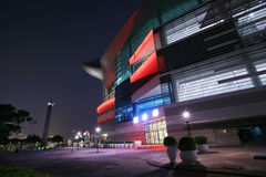 HongKong Convention and Exhibition Centre in night Royalty Free Stock Photos