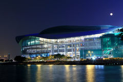 HongKong Convention and Exhibition Centre in night. Hong Kong Convention and Exhibition Centre in night Stock Image