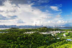 HongKong country sunset Stock Images