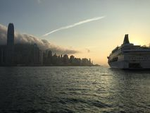 Hongkong cruise royalty free stock images