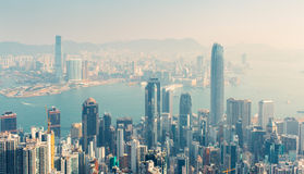 Hongkong. Day view of Hongkong, China royalty free stock photo
