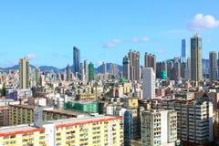 Hongkong de stad in in dagtijd Stock Foto's